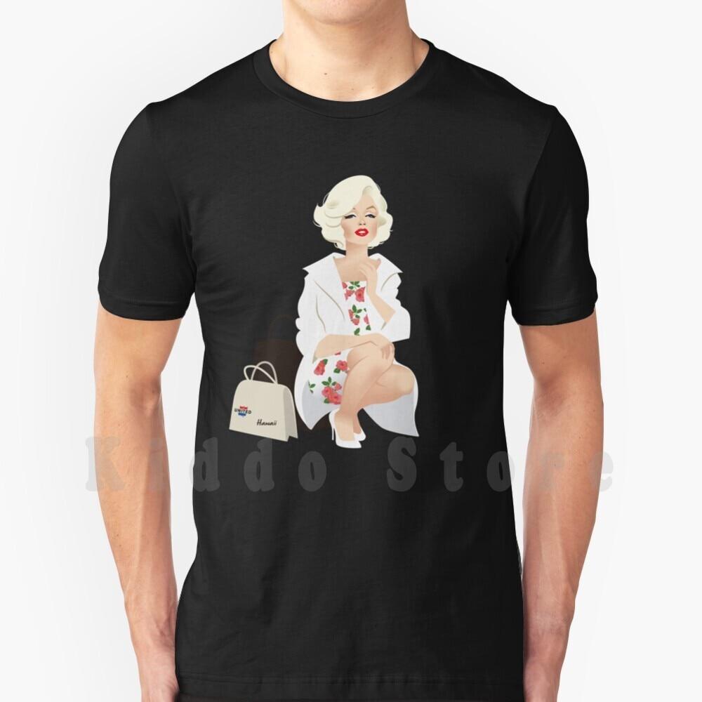Camiseta de algodón para hombre, abrigo blanco de Marilyn, S-6Xl, Marilyn Monroe,...
