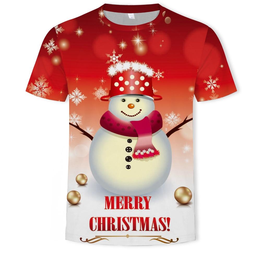 Рождественская Новинка, милая детская футболка, летняя одежда, 3D печать, футболка оверсайз, толстовка, аниме, семейный аксессуар, одежда