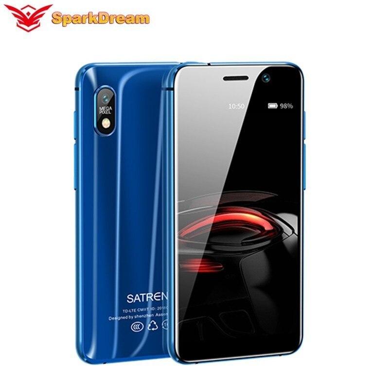 """Satrend s11 mini telefone inteligente 3.22 """"duplo 4g lte mtk6739 quad core 2gb + 16gb gps ultra fino telefone celular android menor"""