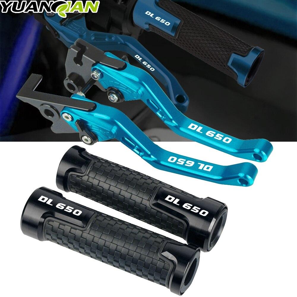 Motorcycles accessories Handle grips handlebar grip & short Brake Clutch Lever For SUZUKI DL650 DL 650 VSTROM 2011 2012-2017