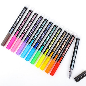 8/12 Pcs/Set Glitter Paint Markers Double Line Color Marker Pen for Drawing/Cards Making/Craft/Posters Waterproof Outline Marker