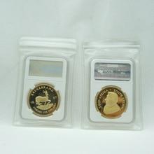 1967 krügerrand 1 UNZEN Feine Gold Replik Südafrika Replik Münze Paul Kruger Gedenk Metall Münze mit PCCB fall PVC tasche