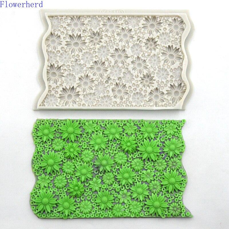 Crisantemo Fondant, silicona, pastel molde pequeña flor molde Chocolate para Decoración de Pastel molde epoxi decoración molde de silicona