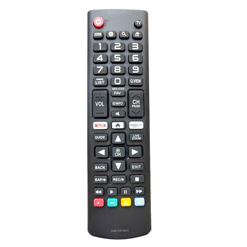 Para lg versão inglês tv controle remoto akb75375604 portátil sem fio tv controle remoto botão sensível