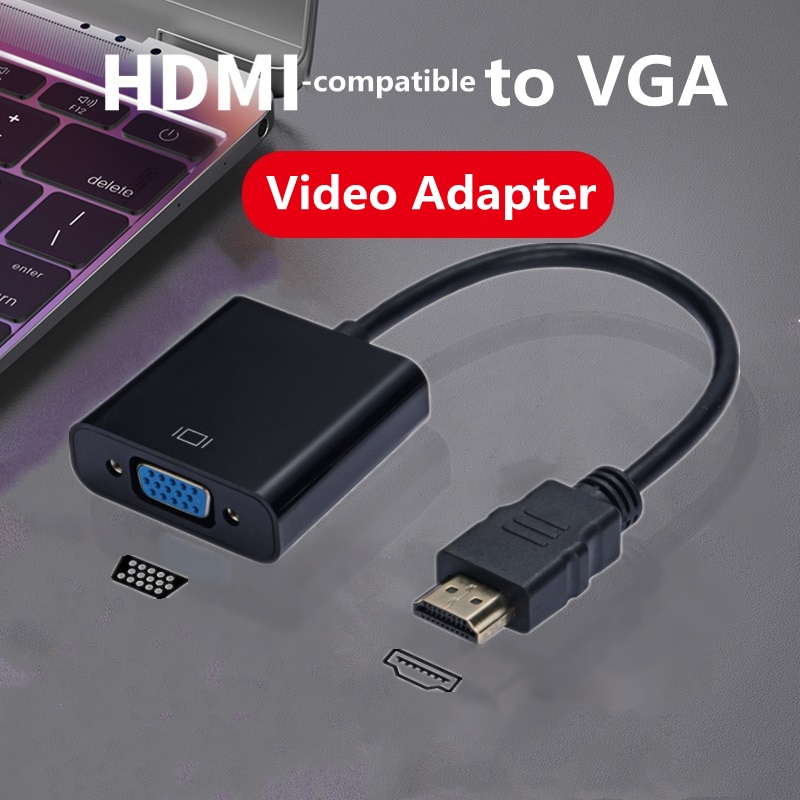 HD 1080P HD compatible con HDMI a VGA Adaptador convertidor de Digital...