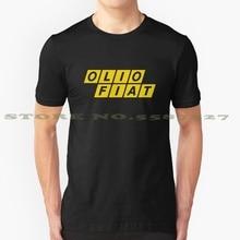 Olio FIAT (желтый) крутая дизайнерская футболка для мужчин и женщин