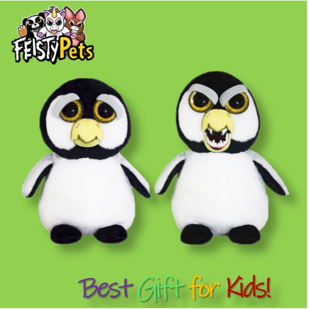 Feisty Pets toy stuffed plush angry animal adorable doll gift penguin