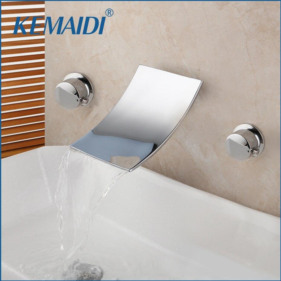 KEMAIDI-صنبور حمام من النحاس الصلب ، مثبت على الحائط ، دش نحاسي صلب ، حوض حمام ، صنبور نحاسي