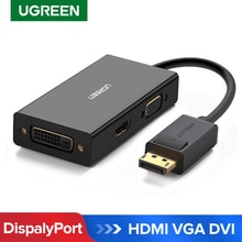 Ugreen 3 in 1 Displayport DP to HDMI VGA DVI Adapter 4K Male to Female Display Port Cable Converter