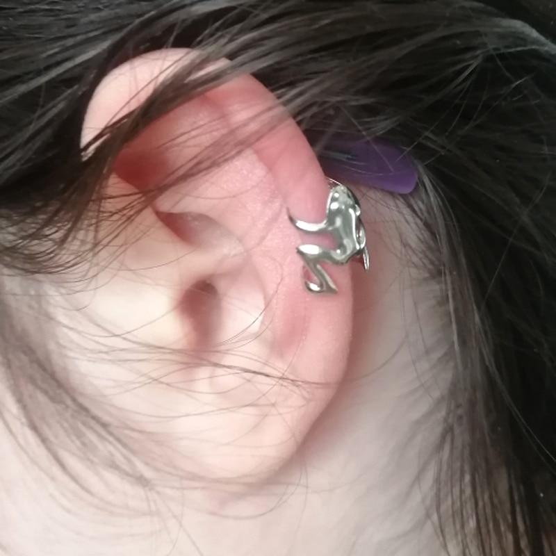 Moda bonito ouro prata cor sapo manguito orelha clipe envoltório brinco feminino punk gothic jóias presente 1pcs