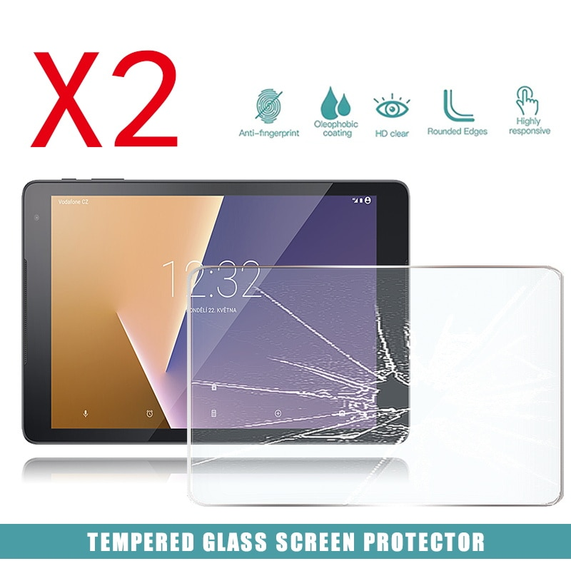 2pcs tablet tempered glass screen protector cover for acer iconia one 10 b3 a50fhd anti screen breakage tempered film 2Pcs Tablet Tempered Glass Screen Protector Cover for Vodafone Smart Tab N8 HD Tempered Film Anti-Screen Breakage Anti-Scratch