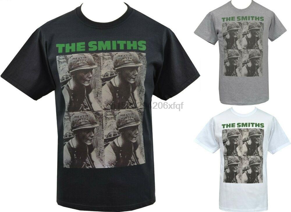 Mens VEGAN T-Shirt The Smiths MEAT IS MURDER Army Helmet British English