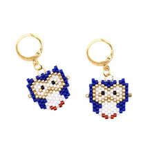 Go2boho Vrouwen Oorbel Sieraden Mode Uil Drop Sieraden Handgemaakte Japanse Miyuki Bead Ear Ring Nieuwe Vergulde Oorringen