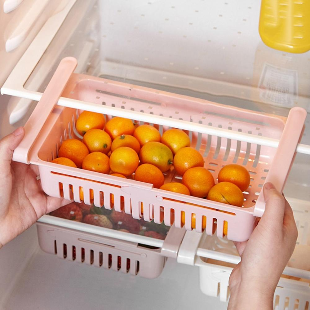 4 Uds Behogar organizador de cajones de nevera estante de refrigerador soporte de contenedores extraíble caja de almacenamiento hogar cocina suministros de contenedores 40