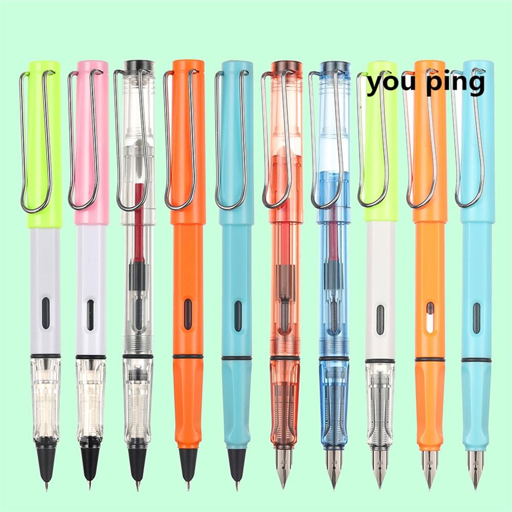 Ручка перьевая, чернильная, с тремя наконечниками, 555