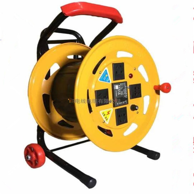 Hot Sale Hand-Held Rod Type Reel 2.5 Square 50 Meters Wire Reel 320 Pulley Cable Reel Convenient mobile socket