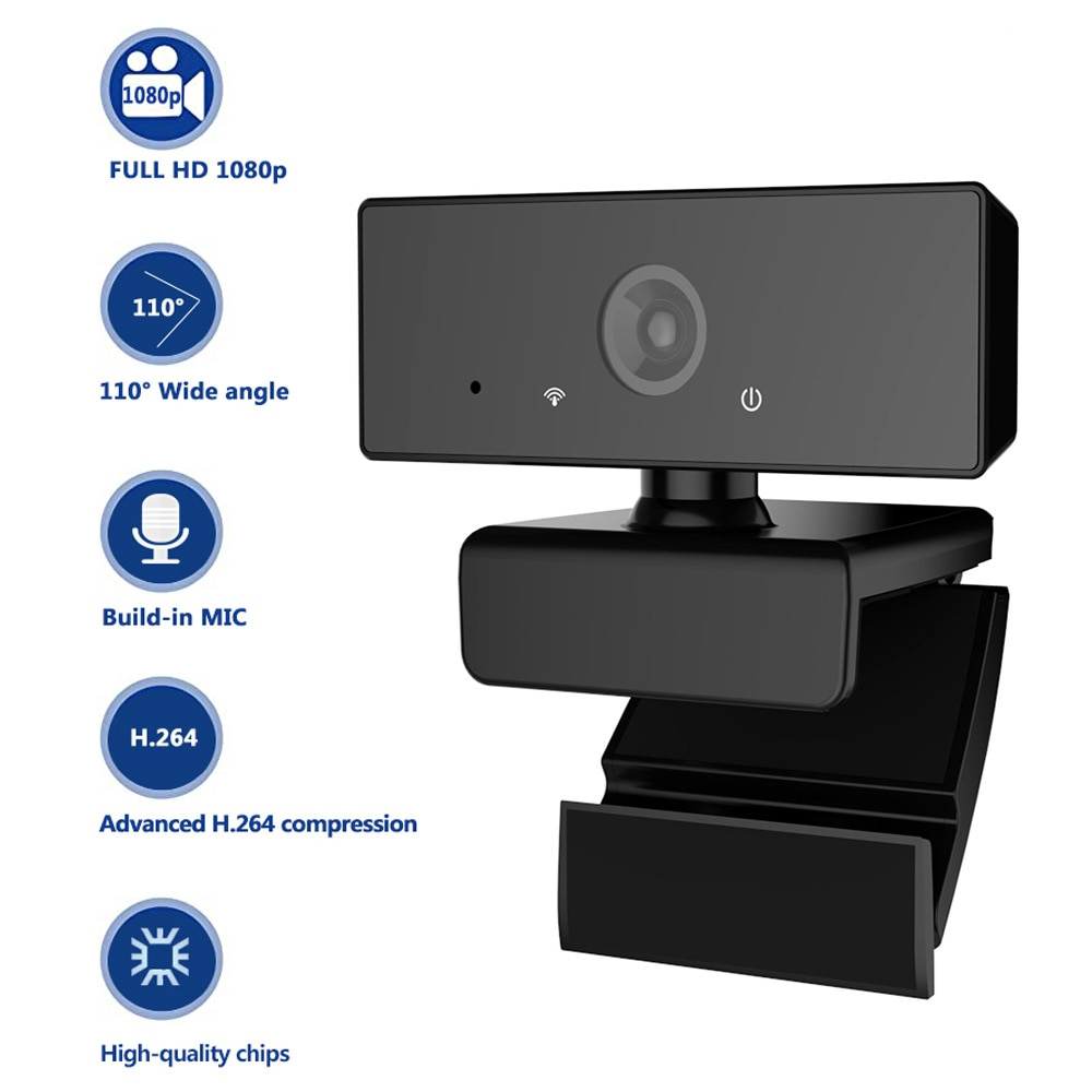 SeenDa-كاميرا ويب عالية الدقة 1080 بكسل ، USB ، ضبط تلقائي للصورة ، كاميرا كمبيوتر ، ميكروفون مدمج ، لسكايب ، تلفزيون Android ، كمبيوتر ، كاميرا ويب USB