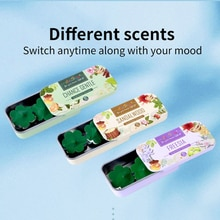 10Pcs/box Portable Scent Filter Capsule Scent Stickers Fragrance Balm Mild Long Lasting Fragrance-in