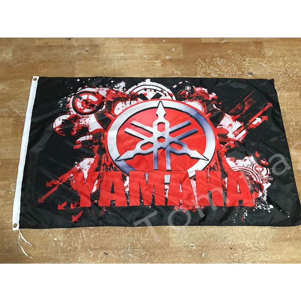 Yamaha Racing flag 90*150cm Size Christmas Decorations for Home and Garden