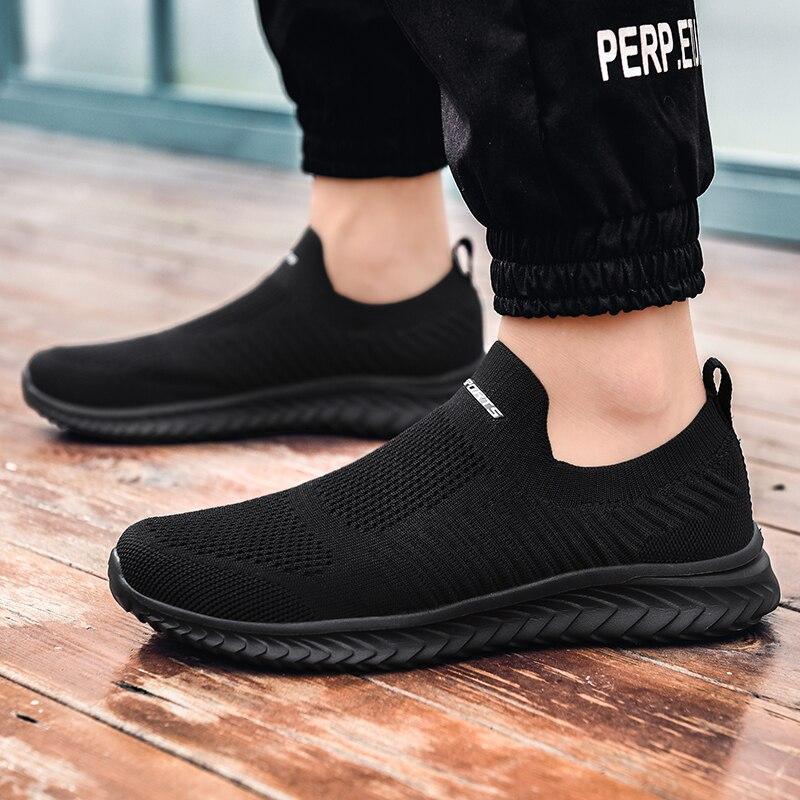Zapatillas deportivas ligeras para hombre, zapatos de malla transpirables para correr, para...
