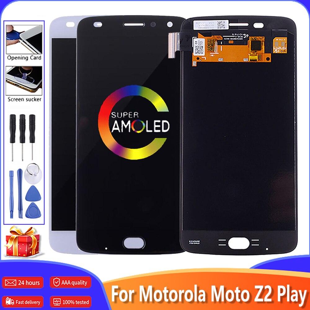 """5,5 """"AMOLED pantalla LCD para Motorola Moto Z2 jugar XT1710 pantalla LCD Digitalizador de pantalla táctil de reemplazo para Moto Z2 jugar pantalla + herramientas"""