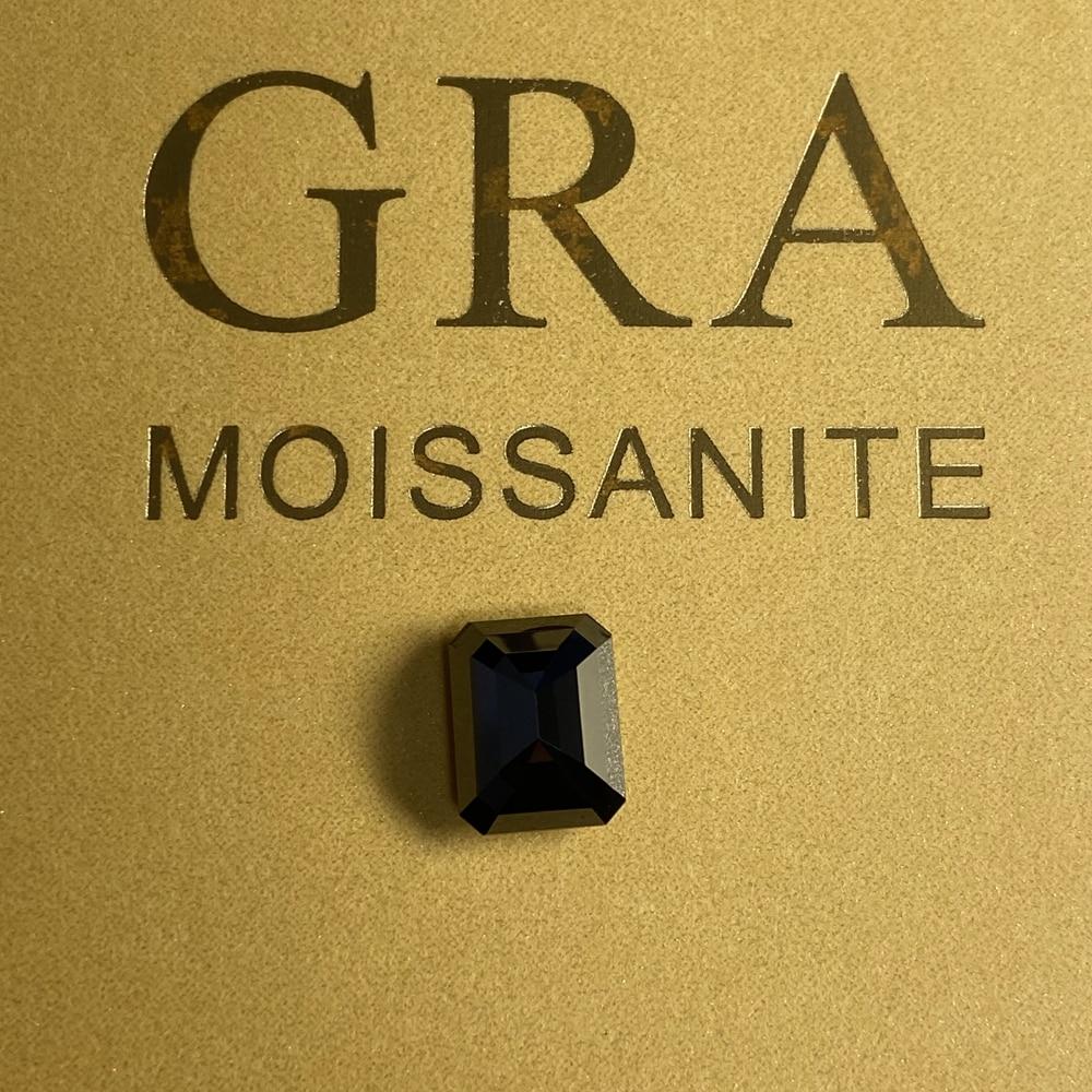 9x11 مللي متر الزمرد قص 4.3 cts الأسود مويسانيتي فضفاض الماس حجر لخاتم المجوهرات