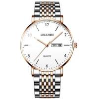 2021 summer new mens watch business leisure quartz watch waterproof luminous steel band trend watch