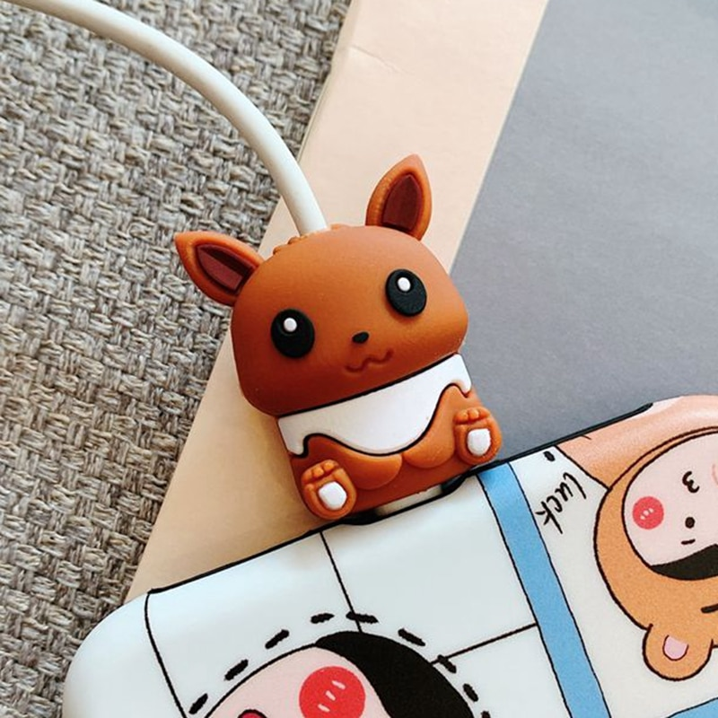 16 Designs Cute Bite Anime Design Cable-Winder Organizer Silicone USB Charging Data Cable Line Protector Cord Cover Decorate