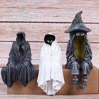 the mysteries lord faceless man sculpture creative hallown ornaments decoration desktop resin statue figurines