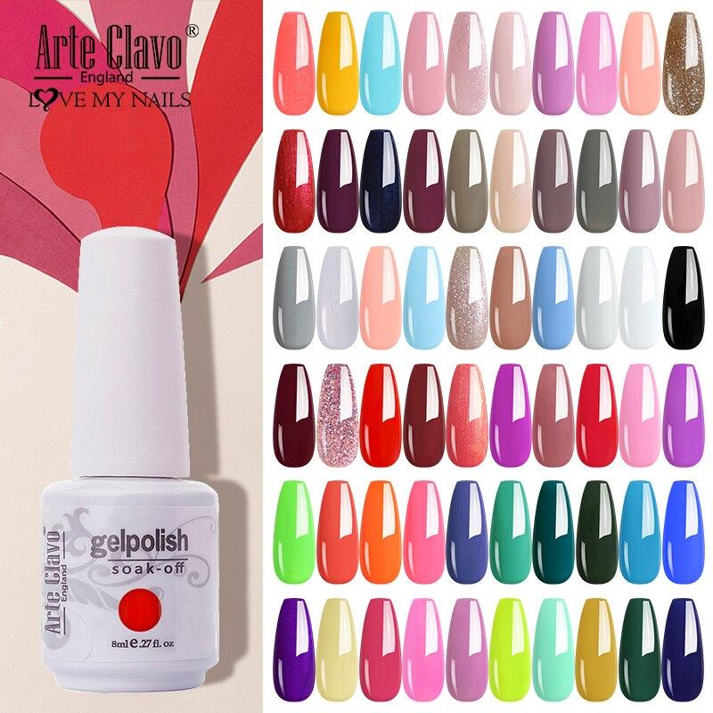 Arte Clavo Gel de esmalte de Gel permanente para uñas manicura clásico...