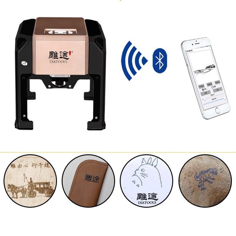 Маленький лазерный гравировальный станок 8*8 см, миниатюрный маркировочный станок, кодировочный станок для надписей по дереву и коже, точный...