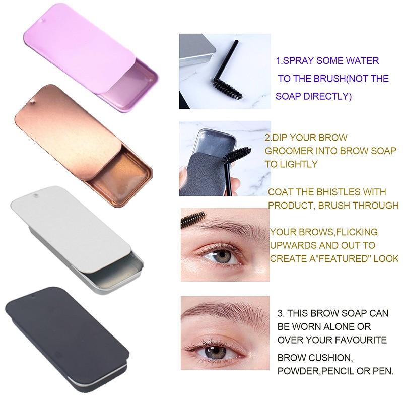 Custom Logo Wholesale Eyebrow Pomade Brow Soap Natural Makeup Waterproof Eyelash Re-Growth Wax Eyebrow Soap Private Label