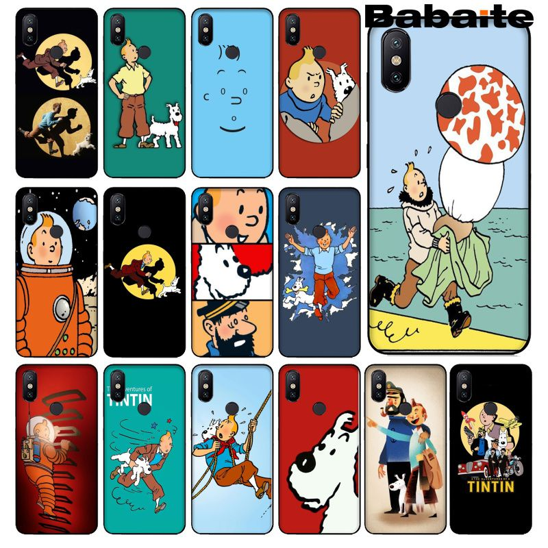 Babaite las aventuras de Tintín novedad Fundas funda de teléfono para Xiaomi Mi 6 8 8 SE nota 3 Mi 3 Nota 3 mezclar 2 2s oficial 5 Coque Shell