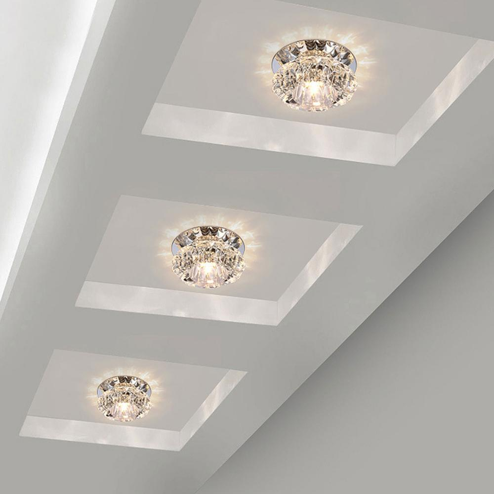 Aisle Flush LED ceiling lamp living room crystal corridor aisle lights Ceiling Lights Luces Front techo Balcony Porch l