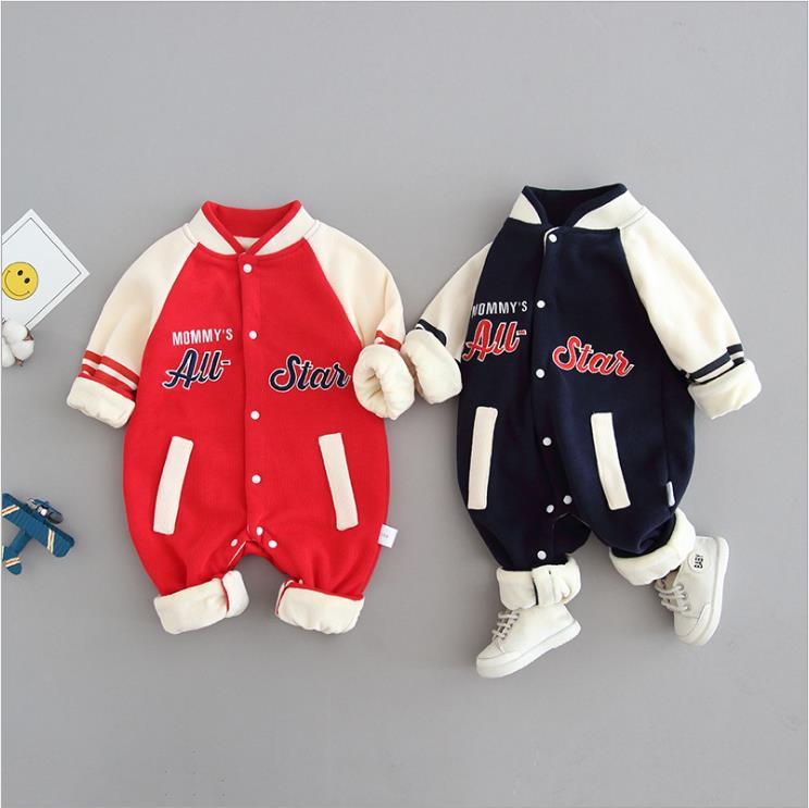 Baby one-piece casual baseball uniform baby boomer uniform long sleeve children's wear in spring, su