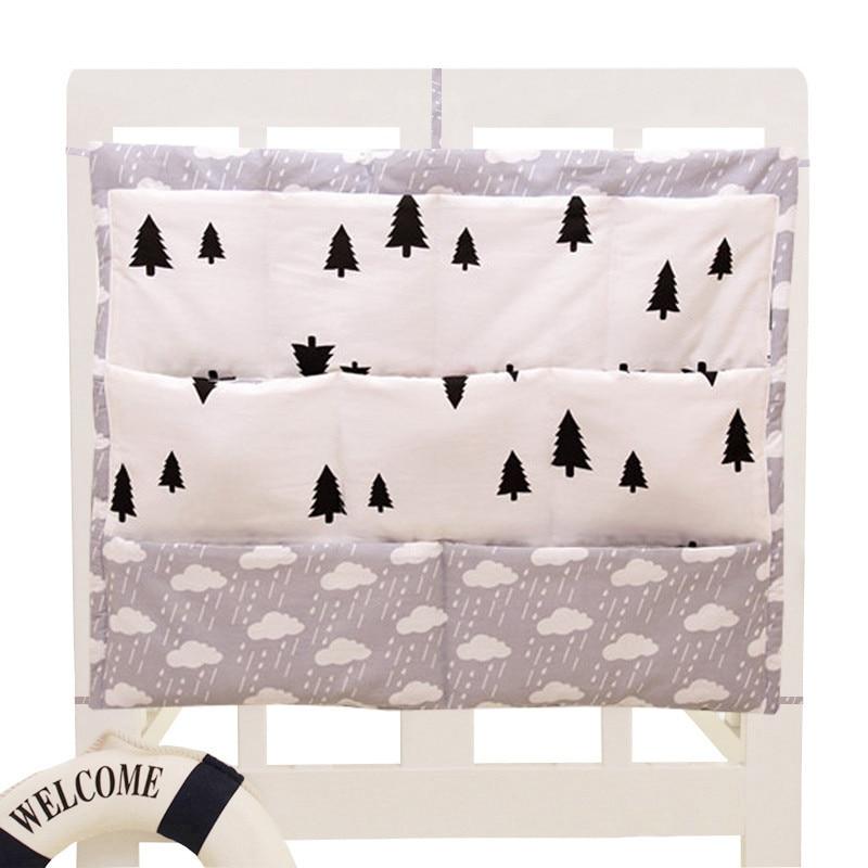 Cartoon Rooms Nursery Hanging Storage Bag Baby Cot Bed Crib Organizer Toy Diaper Pocket for Newborn Crib Bedding Set 58*60 cm