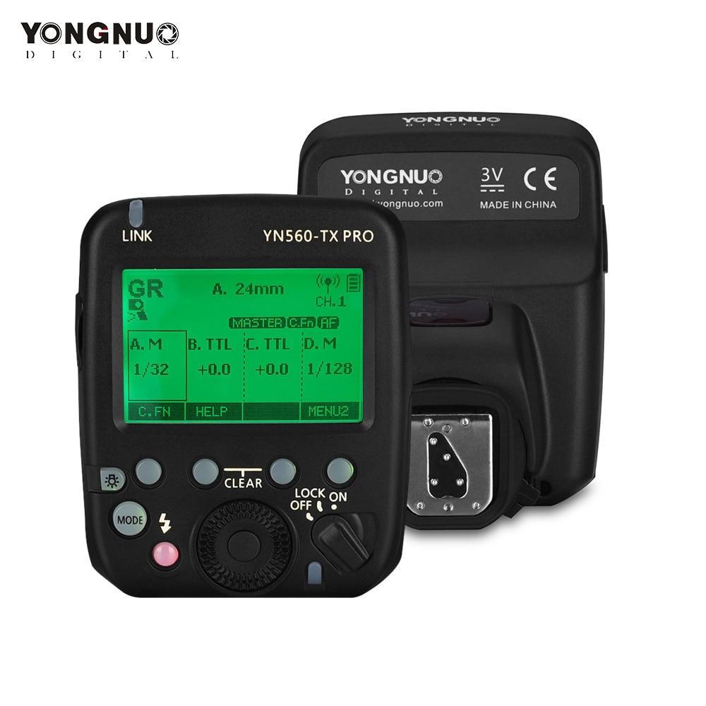 YONGNUO YN560-TX PRO 2,4G Flash disparador Speedlite transmisor inalámbrico para Nikon DSLR Cámara YN968N Speedlite RF605 receptor