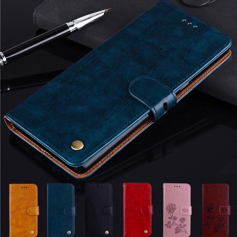 Flip Leather Case For Huawei Y5 Y6 Y5II Y6II Y7 Y9 Prime Pro Lite 2017 2018 2019 Coque Leather Capa