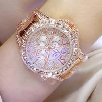 womens stylish luxury three eye diamond crystal large dial waterproof quartz watch woman 2020 lux bracelet clasp