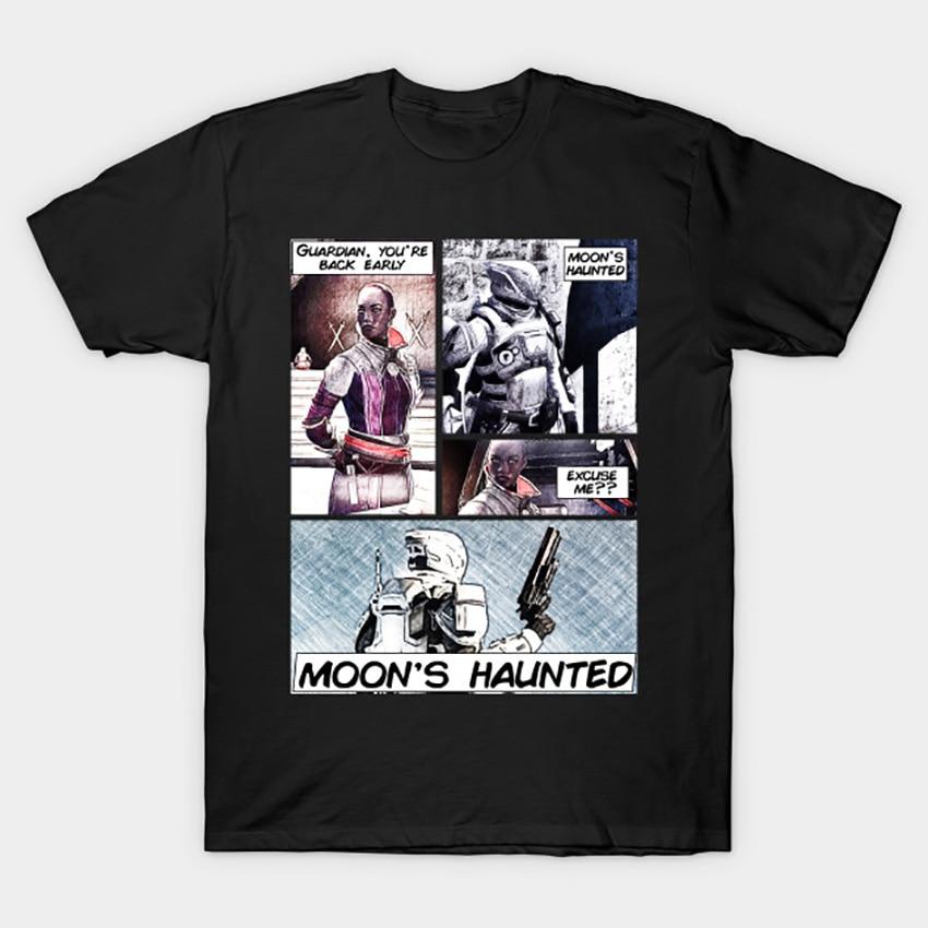 Camiseta embrujada de la Luna, camiseta Destiny guardian, nueva luz, bungie hunter destiny2 destiny el juego titan warlock Moon