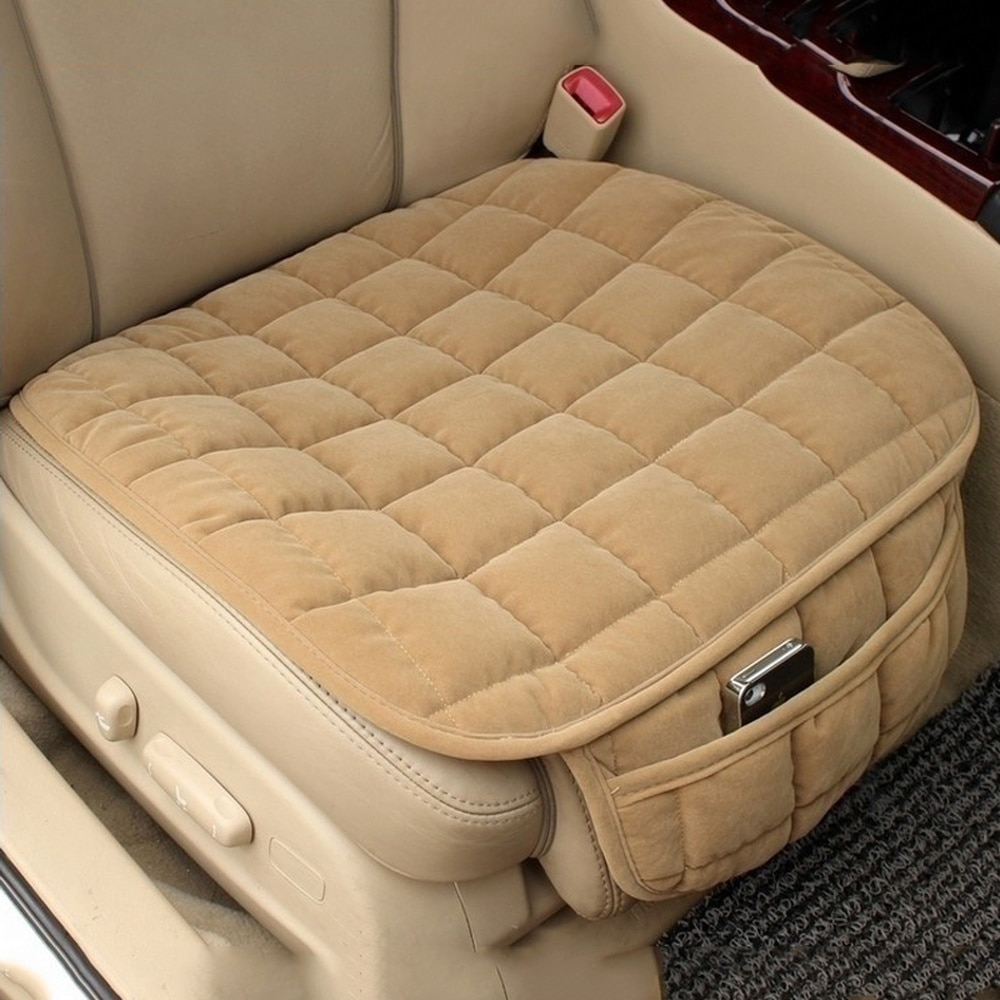 Car Seat Cover Winter Warm Seat Cushion Anti-slip Universal Front Chair Seat Breathable Pad for Vehi