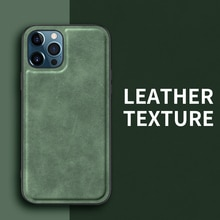Car Magnetic Built-in Magnet Shockproof Silicone Soft PU Leather Flannel Phone Case For Apple iPhone 12 11 Pro MAX MINI Cover