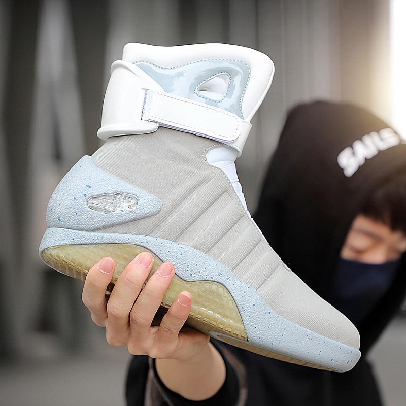 7ipupas جديد أحذية للرجال والنساء ، USB قابلة للشحن متوهجة أحذية رجل الشتاء أحذية أحذية الحفلات الجندي باردة الأحذية العودة إلى المستقبل
