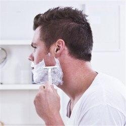 Lâmina de barbear de aço inoxidável importada de lâmina de lâmina de barbear manual descartável de dupla homem novo punho plástico razo