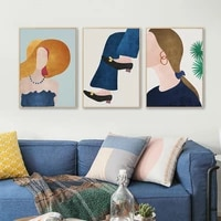 Affiche sur toile murale Morandi  minimaliste  Art nordique abstrait  images Vintage pour decoration de maison
