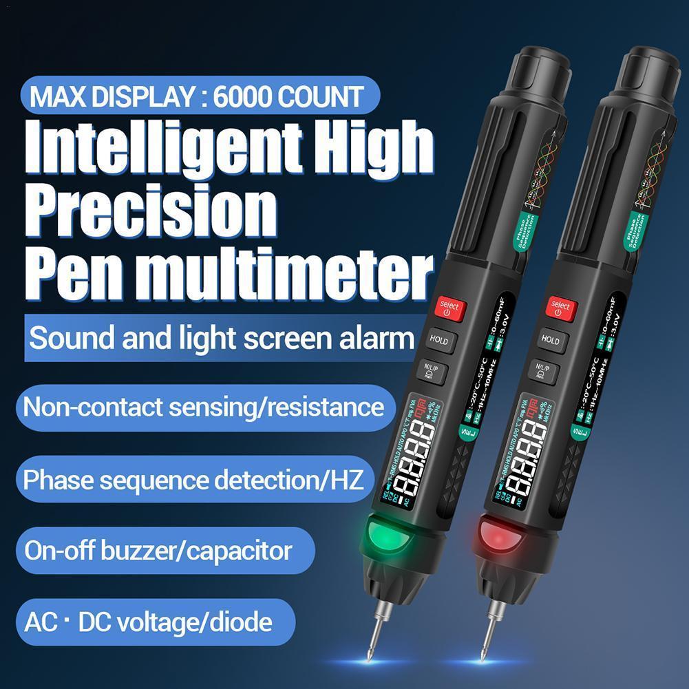 ANENG-multímetro Digital A3008, pluma con Sensor inteligente automático, medidor de voltaje sin...