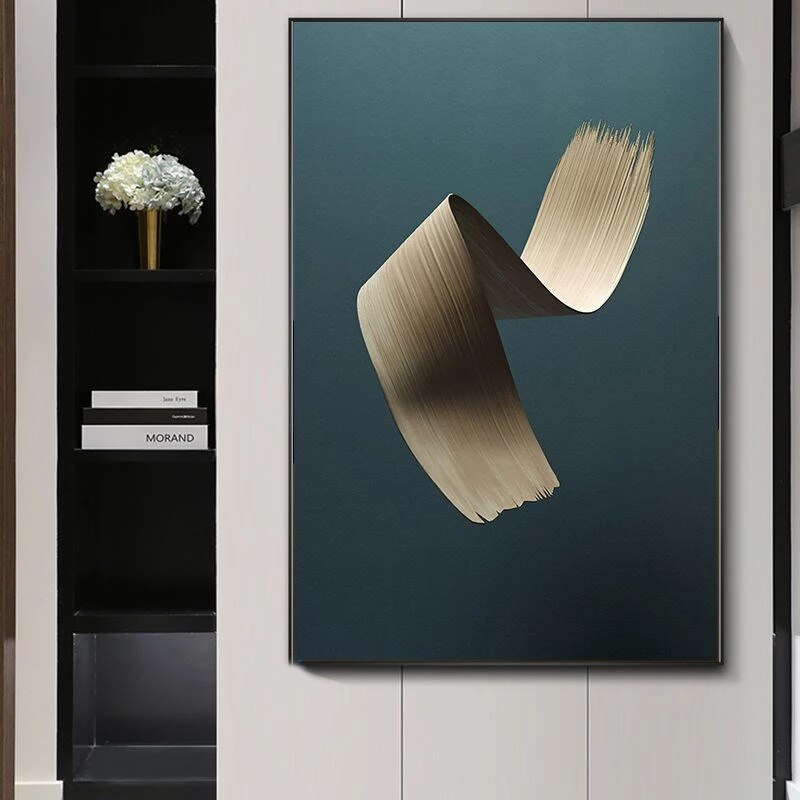 Современный Креативный настенный художественный постер с кисточкой для рисования маслом, абстрактный постер, печать на холсте, картина для...