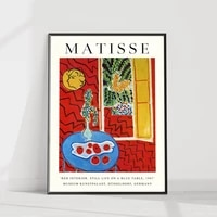 wall art red interior still life canvas painting hd print henri matisse poster home decor for living room modular pictures frame
