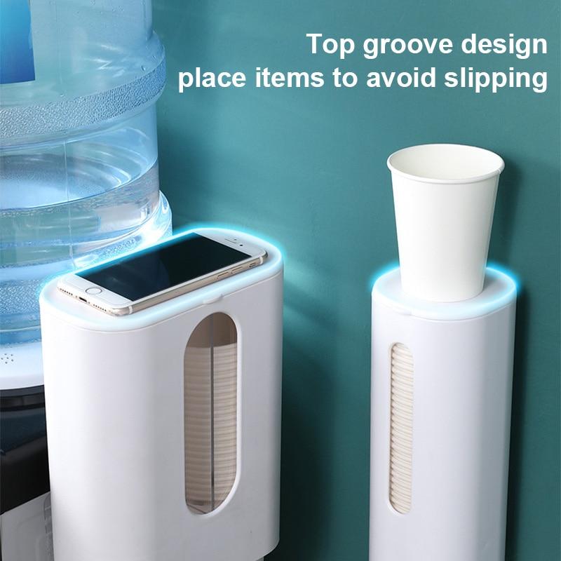 Dispensador de copos, dispensador de copos de papel descartável, suporte de parede para casa office @ ls