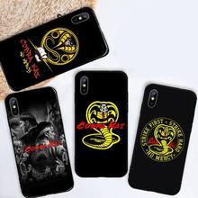 cobra kai snake Phone Case for iPhone 11 12 mini pro XS MAX 8 7 6 6S Plus X 5S SE 2020 XR